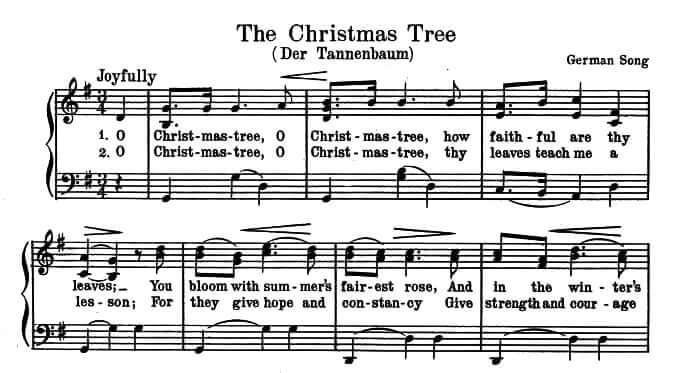 FOLK SONG: Oh Tannenbaum