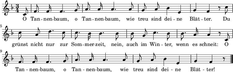 O Christmas Tree In German