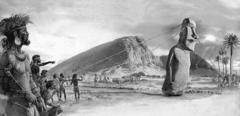 Myths and Legends of the MOAI in Rapa Nui or Easter Island