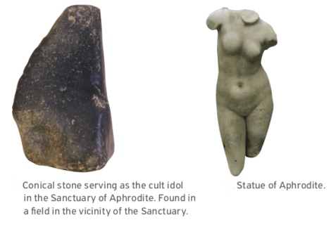 CYPRUS: Myth and Cult of Aphrodite on Cyprus . stone-aphrodite
