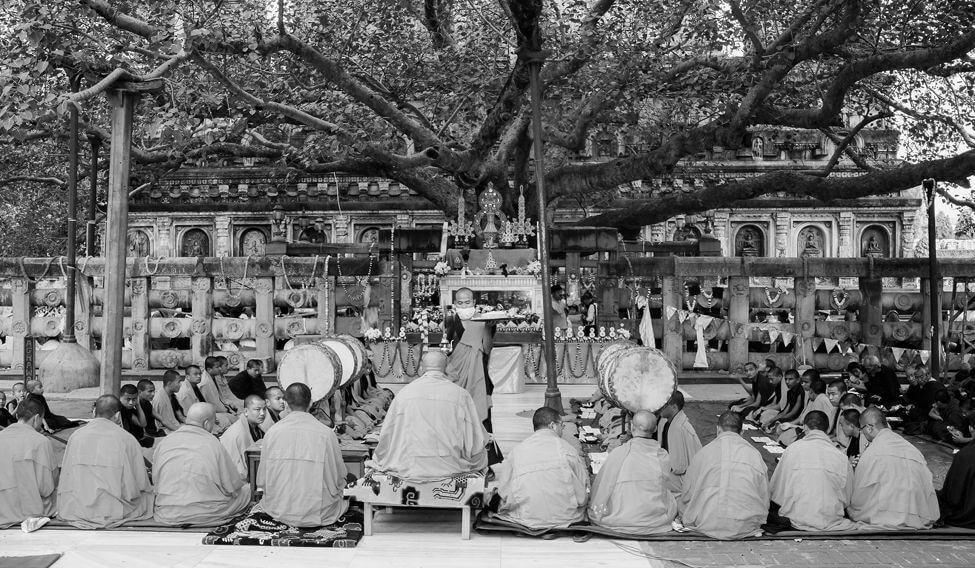 Bodh Gaya where Buddha sat for enlightenment under the Maha Bodhi Tree
